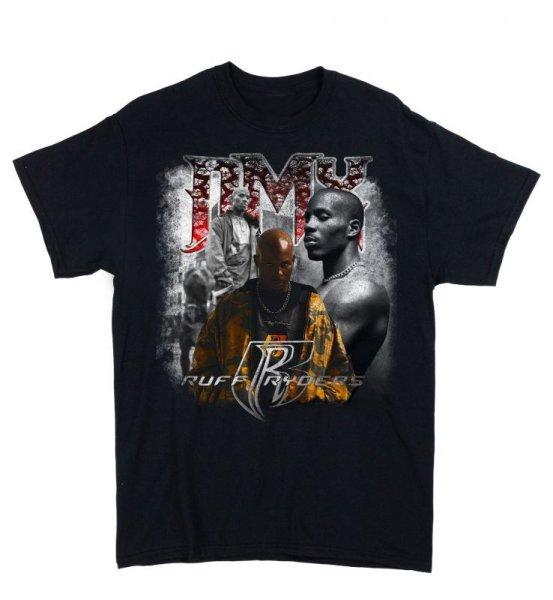 画像1: CROWOVER DMX RAP TEE BLACK / クロウオーバー 半袖 プリント Tシャツ ブラック (1)