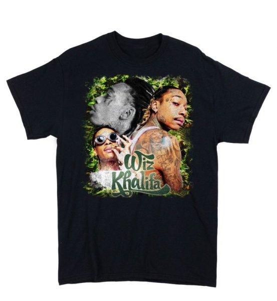 画像1: CROWOVER WIZ KHALIFA RAP TEE BLACK / クロウオーバー 半袖 プリント Tシャツ ブラック (1)