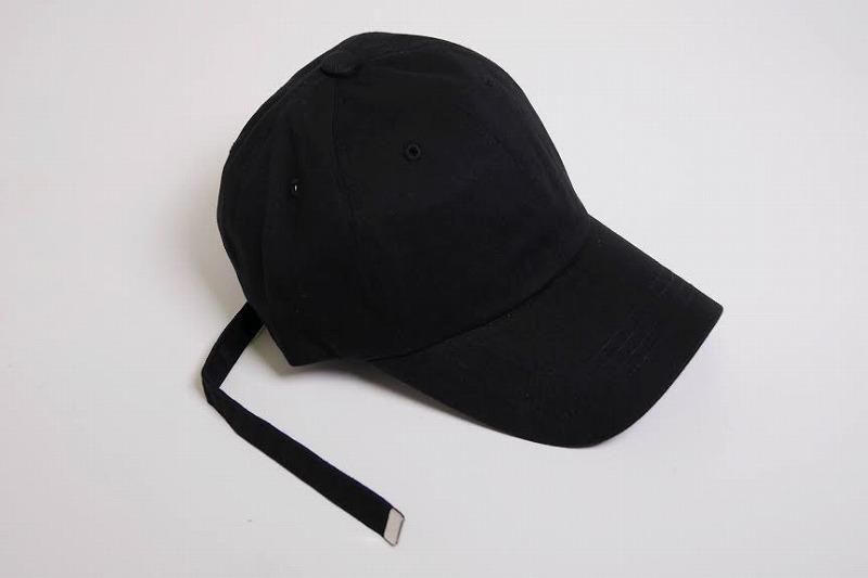 de8354ac9ab LONG STRAP DAD HAT BLACK  再入荷! ロング ストラップ キャップ ブラック