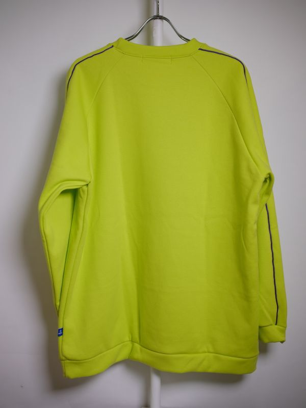 piping crew neck sweat lime green パイピング クルーネック